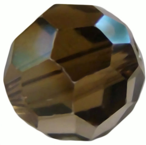 Swarovski Crystal Faceted Round - Crystal Bronze Shade