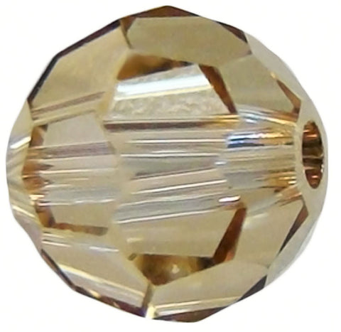 Swarovski Crystal Faceted Round - Crystal Golden Shadow