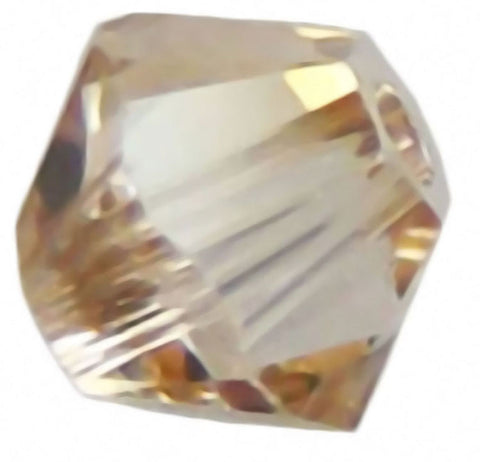 Swarovski Crystal Xilion Bicone - Crystal Golden Shadow