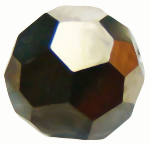 Swarovski Crystal Faceted Round - Crystal Metallic Light Gold 2x