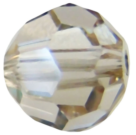 Swarovski Crystal Faceted Round - Crystal Silver Shade