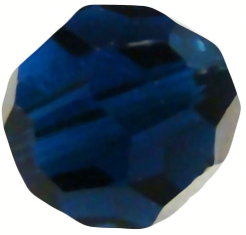 Swarovski Crystal Faceted Round - Dark Indigo