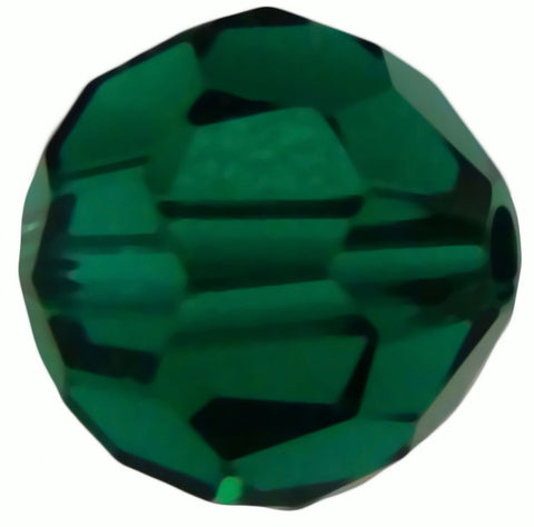 Swarovski Crystal Faceted Round - Emerald