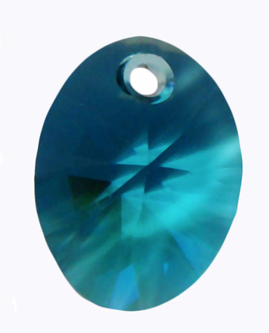 Swarovski Crystal Oval Pendant 12mm