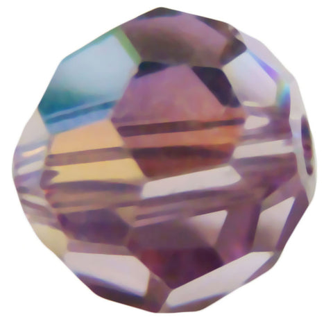 Swarovski Crystal Faceted Round - Light Amethyst AB