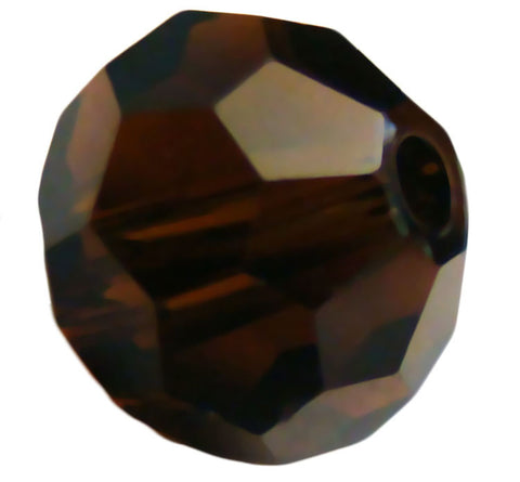 Swarovski Crystal Faceted Round - Mocca