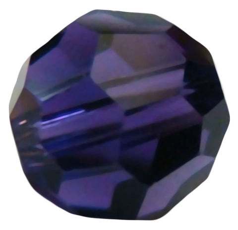Swarovski Crystal Faceted Round - Purple Velvet