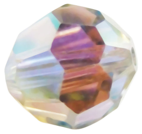 Swarovski Crystal Faceted Round - Shadow Crystal AB2x