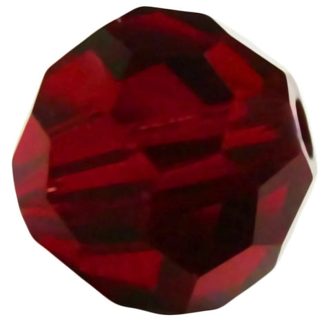 Swarovski Crystal Faceted Round - Siam