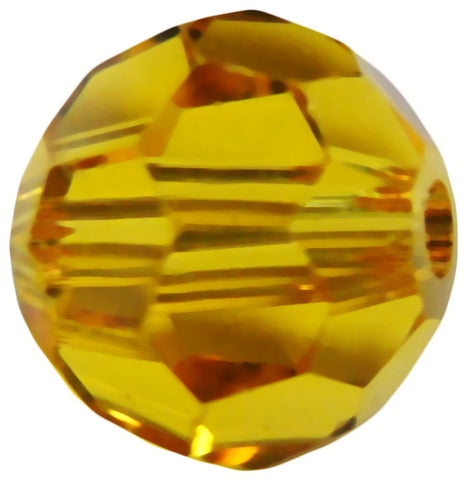 Swarovski Crystal Faceted Round - Sunflower