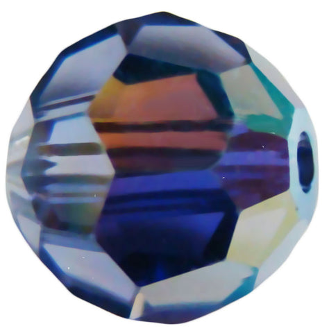 Swarovski Crystal Faceted Round - Tanzanite AB
