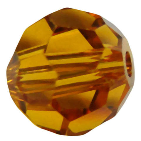 Swarovski Crystal Faceted Round - Topaz