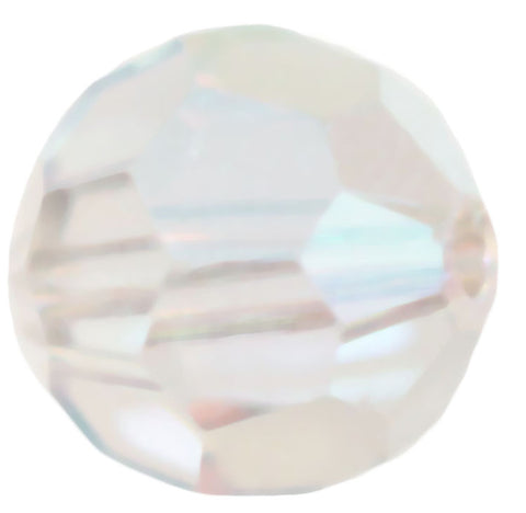 Swarovski Crystal Faceted Round - Crystal Moonlight