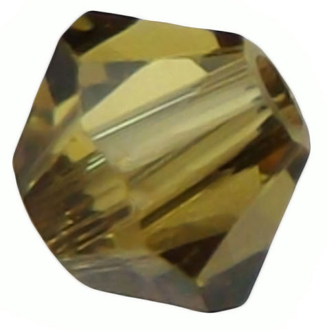 Swarovski Crystal Bicone - Light Topaz Satin