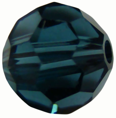 Swarovski Crystal Faceted Round - Montana Blue