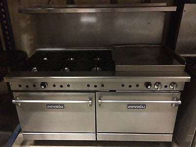 Imperial 6burner double over w/ griddle