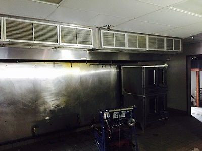 17' CAPTIVE AIR HOOD WITH FANS, ELECTRICAL BOX AND FIRE SYSTEM