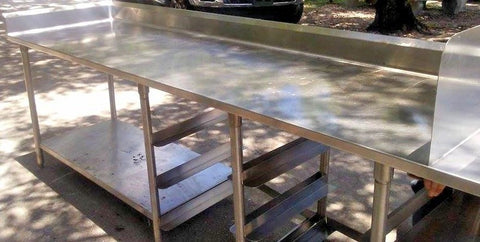 13 ft. Stainless Steel Kitchen Counter Top