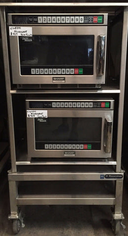 Sharp RCD2200M Twin Touch Dual 2200W Stackable Commercial Microwave Oven