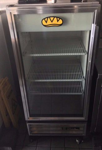 "2012 TRUE GDM-10 - 24"" GLASS DOOR REACH IN REFRIGERATOR"