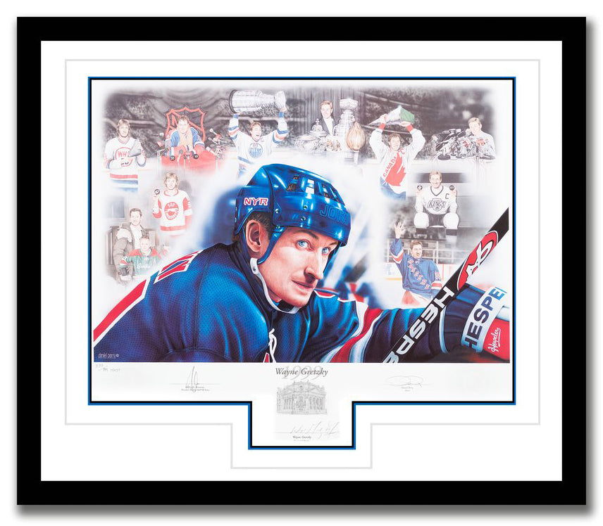 Wayne Gretzky Autographed Limited Edition 1999 HHOF Induction Print