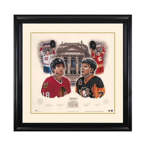 Inductees 2000 – Denis Savard & Joe Mullen Signed Limited Edition Print