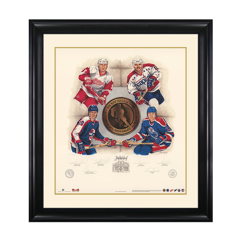 Inductees 2001 – Viacheslav Fetisov, Dale Hawerchuk, Jari Kurri & Mike Gartner Signed Limited Edition Print