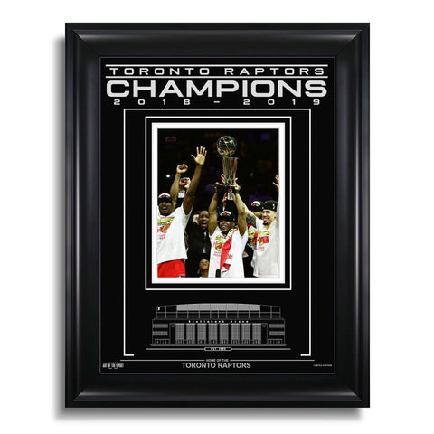 Toronto Raptors Engraved Framed Photo - We The Champs