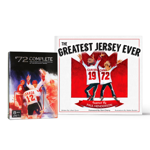 The Greatest Jersey Ever Children's Book & Team Canada 1972 Complete 8-DISC DVD Combo