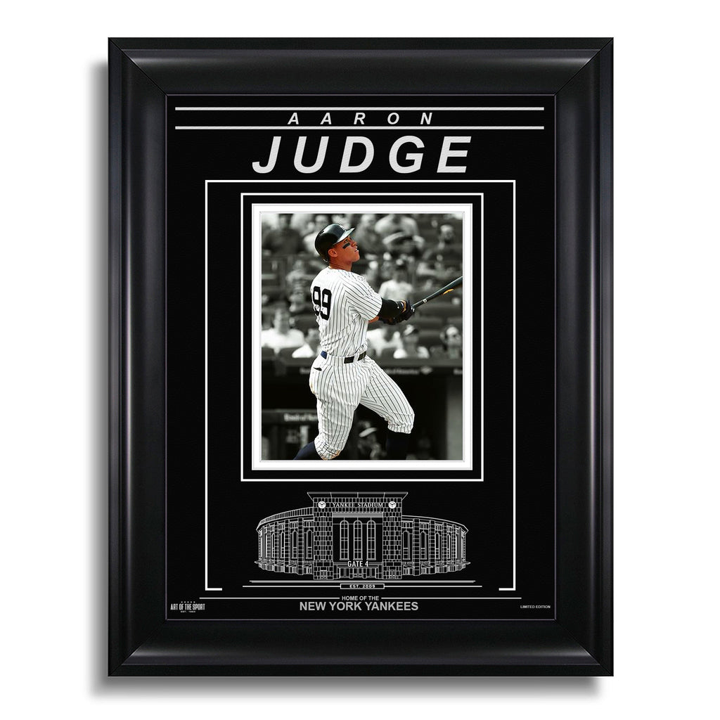 Aaron Judge New York Yankees Engraved Framed Photo - Action Spotlight