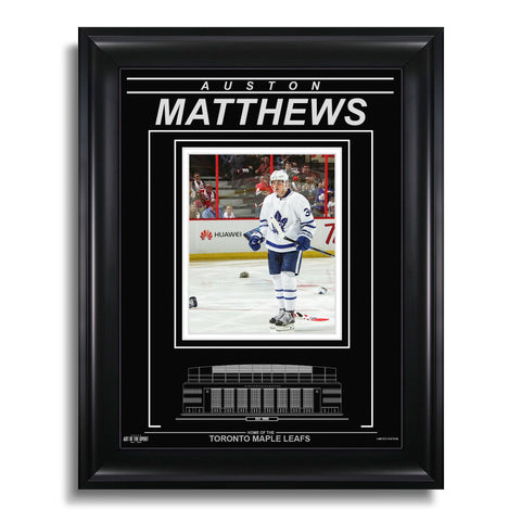 Auston Matthews Toronto Maple Leafs Engraved Framed Photo - 4 Goal Game