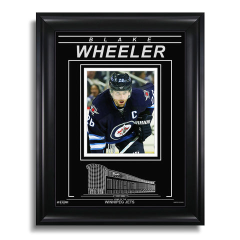 Blake Wheeler Winnipeg Jets Engraved Framed Photo - Closeup