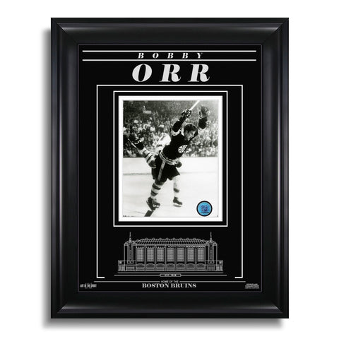 Bobby Orr Boston Bruins Engraved Framed Photo - The Goal
