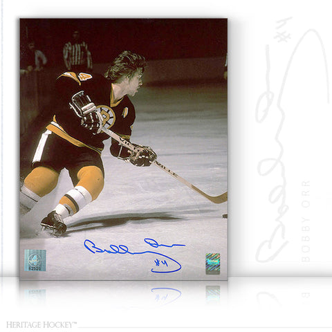 BOBBY ORR AUTOGRAPHED SIGNED PLAYMAKER 16X20 PHOTO - BOSTON BRUINS