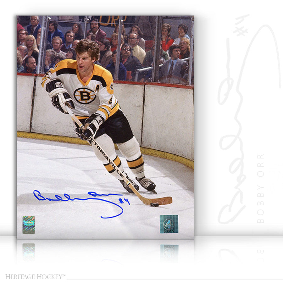 BOBBY ORR AUTOGRAPHED SIGNED BOSTON GARDENS ACTION 8X10 PHOTO - BOSTON BRUINS