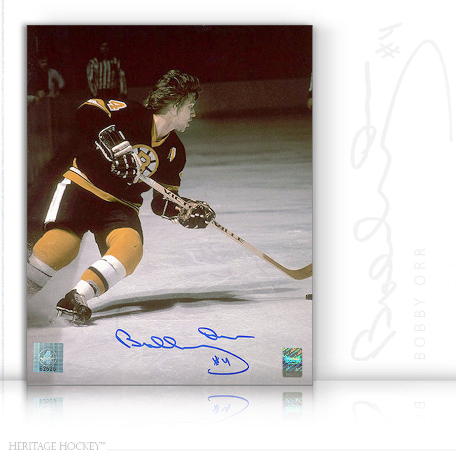 BOBBY ORR AUTOGRAPHED SIGNED PLAYMAKER 8X10 PHOTO - BOSTON BRUINS