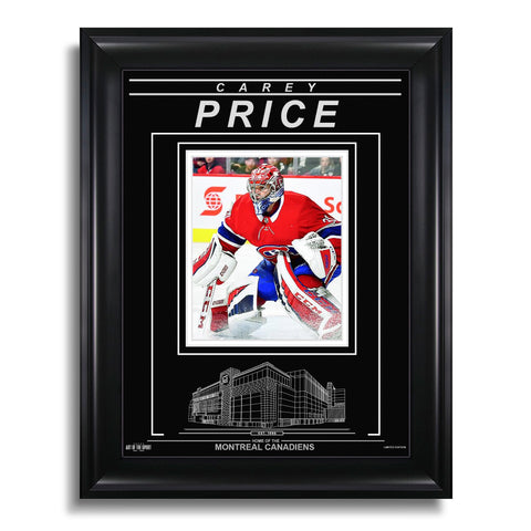 Carey Price Montreal Canadiens Engraved Framed Photo - Action