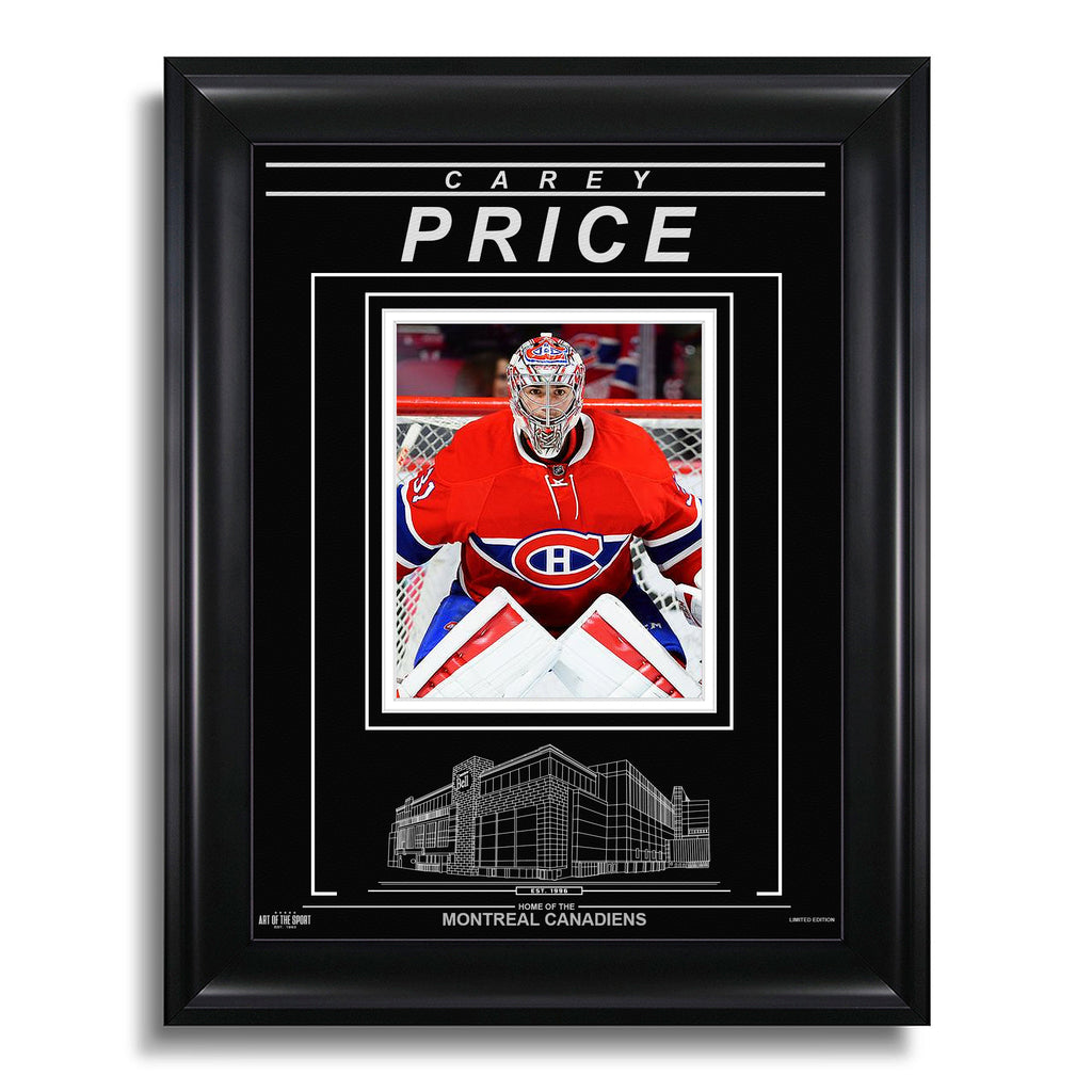 Carey Price Montreal Canadiens Engraved Framed Photo - Focus