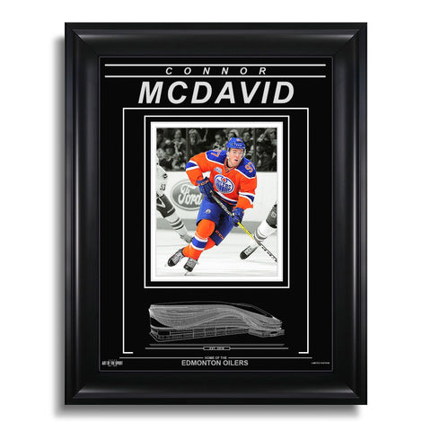Connor McDavid Edmonton Oilers Engraved Framed Photo - Action Spotlight