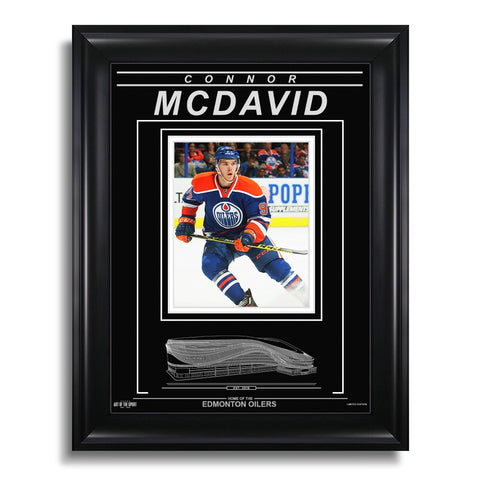 Connor McDavid Edmonton Oilers Engraved Framed Photo - Action Stop