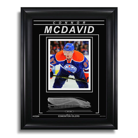 Connor McDavid Edmonton Oilers Engraved Framed Photo - Closeup