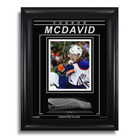 Connor McDavid Edmonton Oilers Engraved Framed Photo - First Goal