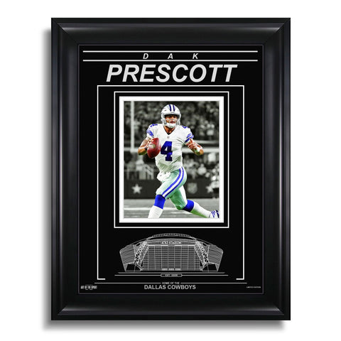 Dak Prescott Dallas Cowboys Engraved Framed Photo - Focus