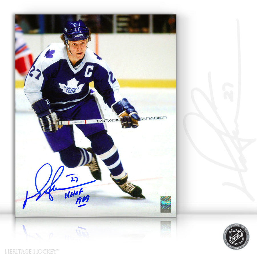 DARRYL SITTLER AUTOGRAPHED SIGNED BREAKOUT 8X10 PHOTO - TORONTO MAPLE LEAFS