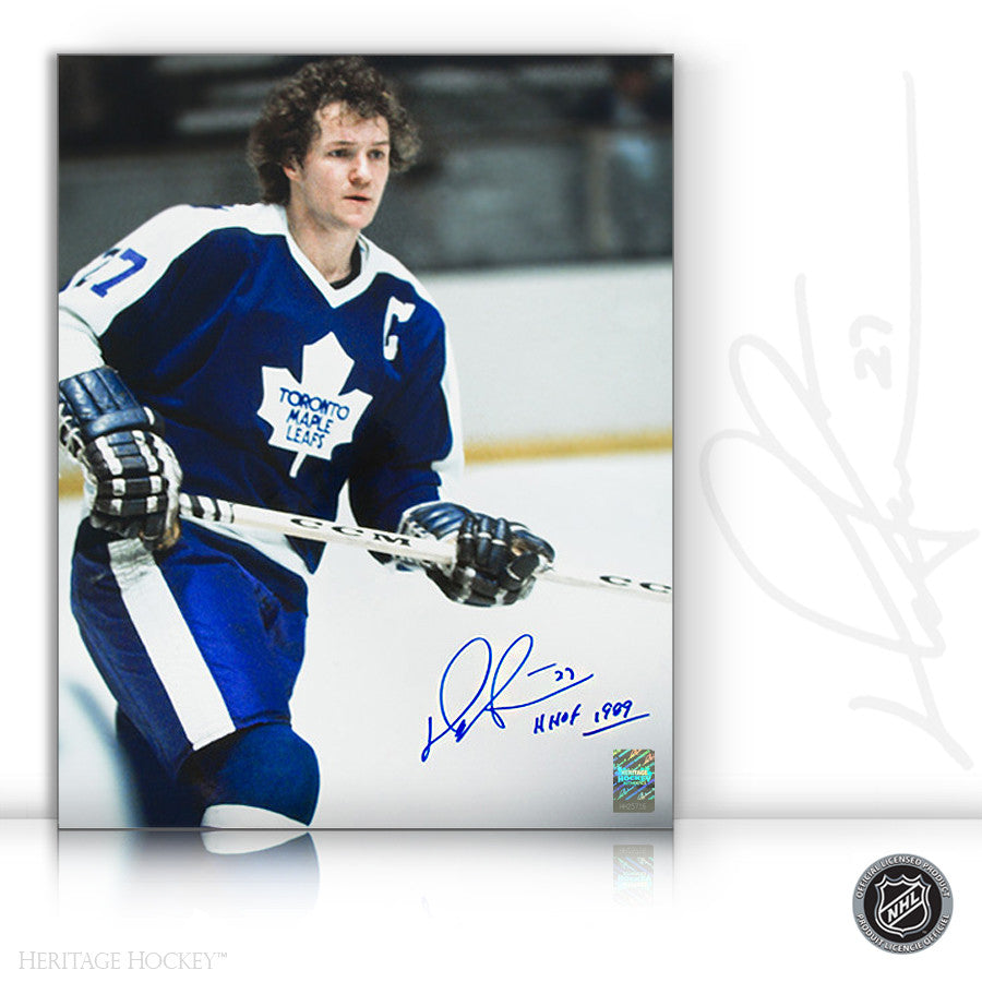 DARRYL SITTLER AUTOGRAPHED SIGNED CAPTAIN 8X10 PHOTO - TORONTO MAPLE LEAFS