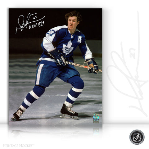DARRYL SITTLER AUTOGRAPHED SIGNED HOF 8X10 PHOTO - TORONTO MAPLE LEAFS