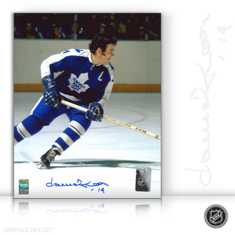 DAVE KEON AUTOGRAPHED SIGNED ACTION 11X14 PHOTO - TORONTO MAPLE LEAFS