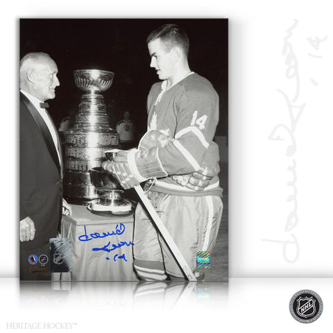 DAVE KEON AUTOGRAPHED SIGNED BLACK & WHITE STANLEY CUP 8X10 PHOTO - TORONTO MAPLE LEAFS