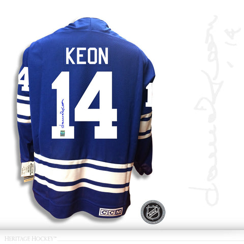 DAVE KEON AUTOGRAPHED SIGNED TORONTO MAPLE LEAFS CCM VINTAGE 1967 JERSEY