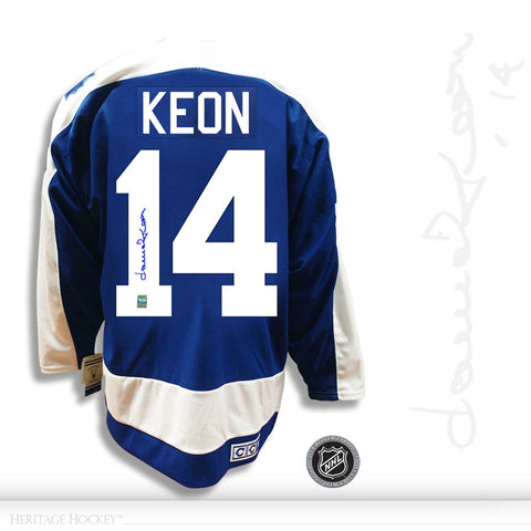 DAVE KEON AUTOGRAPHED SIGNED TORONTO MAPLE LEAFS CCM VINTAGE JERSEY